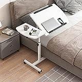 Table de lit médicalisé, Bureau d'ordinateur Mobile avec Roues, Table de Chevet inclinable à Hauteur réglable, pour hôpital à Domicile et Bureau-1