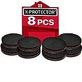 Patin antiderapant X-PROTECTOR – Patin caoutchouc Premium - 8 pcs 50 mm - Patins antidérapants autocollants - Patin en caoutchouc - anti dérapent meuble – idéal pour la fixation en place des mobiliers