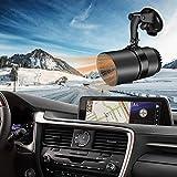 12V Réchauffeur de Voiture Portable, Chauffage Rapide 150W 2 en 1 avec Fonction de Chauffage et de Climatisation, Hiver Désembuage du Dégivreur, Rotative à 360 Degrés, Allume-cigare Enfichable