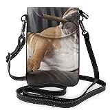 Téléphone Portable Sac à Main bandoulière Chien Chaise Verre Boisson Cigare Femmes PU Cuir Mode Sac à Main avec Sangle réglable