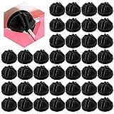 SSPECOTNR Lot de 40 connecteurs cubiques en plastique emboîtables avec fermoir pour étagère et armoire modulaire Noir
