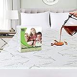 Utopia Bedding Premium 340 GSM 100% protège-Matelas en Bambou imperméable, Housse de Matelas, Respirant, Style ajusté Tout Autour élastique (140 x 200 cm)