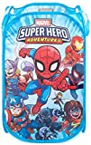 Jay Franco Marvel Super Hero Adventures Pop Up Hamper - Mesh Laundry Basket/Bag with Durable Handles - Features Spiderman, Iron Man, Captain America & Thor (Official Marvel Product)