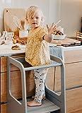 Sweet Home from Wood La Tour d'Apprentissage/d'Observation Montessori est Un Support/marchepied de Cuisine réglable (Gris)