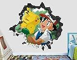Stickers muraux Pokémon sticker mural décoration enfants smashed 3d autocollant art vinyle