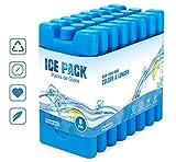Homewit Blocs Réfrigérants pour Glacières,Lot de 8 x 210 ML Sac Isotherme ou Glacière, Réutilisable Conception Mince et Légère pour Pain de Glace et Sac à Déjeuner - Bleu