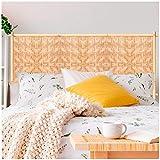 Les Trésors De Lily [Q9065 - Sticker Tête de lit 'Bois Tressé' Beige - 160x70 cm