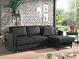 Lisa Design - Zack - canapé d'angle Convertible - avec Coffre - Style Industriel - 4 Places - Droit
