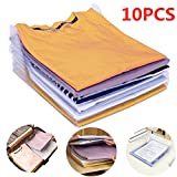 Organisateur d'armoires,Organiseur de T-Shirt,Vêtements Documents Chemise T-Shirt de Taille Normale (10PCS)
