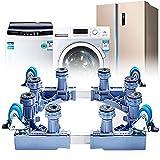 LXYYSG Support Machine a Laver Réglable, Mobile Base de Réfrigérateur Sèche-Linge Socle avec 4 Roue en Caoutchouc, Multifonction Acier Inoxydable Lave Linge Stent Socle, Taille: 46-70cm