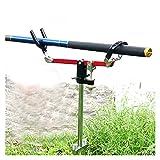 robots master Simple Pratique Tige de pêche réglable Support de pêche Support Support en Acier Inoxydable Insert siège détachable Mont rivière Canne à pêche