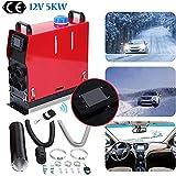 Ambienceo Chauffage Diesel 12V 5KW Air Diesel Heater Réchauffeur d'air Diesel avec Affichage à Télécommande d'affichage à Cristaux Liquides, Économie d'Énergie Camping Car