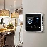 Thermostat électrique Chauffage Sol, KKmoon® AC 85-250V Thermostat Intelligent à écran Tactile LCD pour Système de Chauffage au Sol électrique Programmable à la Maison Thermorégulateur de Chauffage