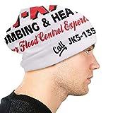 xuexiao Bonnet en tricot pour hommes et femmes - Chapeaux de luge d'hiver pour temps froid Oh Kay Plomberie et chauffage seul à la maison, casquette de camionneur bonnet blanc noir