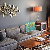1 taie d'oreiller décorative45 x 45CM,Carte, Carte de la géographie Mondiale, Continents et Pays, Image de cartographie physiqueTaie d'oreiller Decoratif Douce pour Maison Salon Chambre Lit Bureau