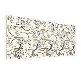 Bilderwelten Portemanteau Mural en Bois - Blueberry Branches - Crochet Chrome 40x100 cm