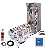 Nassboards Premium Pro - Kit Élite de Tapis de Chauffage Au Sol Électrique de 150 W - 2.5m² - Thermostat Blanc Avec Écran Tactile