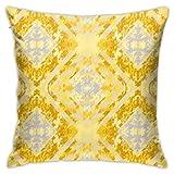 N / A Aspen Housse de coussin dorée et grise pour canapé 45 x 45 cm