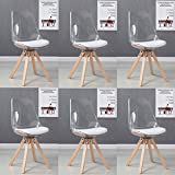 Designetsamaison Lot 6 chaises scandinaves Transparentes