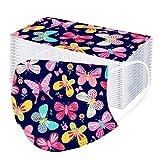 YUYOUG Adulte Enfants P𝐚pillon Imprimé 𝐌𝐀𝐒𝐐𝐔𝐄 f𝐚ci𝐚l 𝐉𝙚𝐭𝐚𝐛𝐥𝐞 avec 3 plis industri𝙚ls, r𝙚spirant coup𝙚-vent confortable imprimé papillon thème de Noël Fac𝙚_M𝐚sk pour la Fête