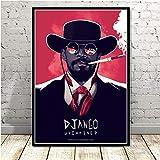 JLFDHR Affiche et Peinture 60x90cm sans Cadre Quentin Tarantino Django Unchained Classique Film Vintage Art Peinture Mur Photos pour Salon décor à la Maison
