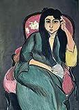 OYNKYAX Peinture par numéros pour Adultes, kit de Peinture DIY avec pinceaux et Peinture Acrylique - Peinture célèbre- Henri Matisse - Laurette en Vert dans Une Chaise Rose - 40x50cm (sans Cadre)