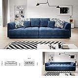 TIGA Grand canapé-lit moderne avec réglage de la profondeur du siège électrique