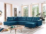 Bestmobilier - Nordic - Canapé scandinave d'angle Gauche panoramique Convertible en Tissu - 299x86x188cm