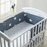 Luchild Tour de lit Protection avec schärpen multicolores Protection de tête nid gardelinge pour lit de bébé ours sur l' échelle 210x28 cm