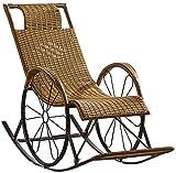 Poids léger Fauteuil inclinable zéro gravituité rotin chaises à bascule chaises longues chaises longues inclinées chaises longues chaises longues chaises de chaises de soleil relax jardin inclinable