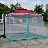 YYCHJU Parasol de Table Jardin Gazebo Balcon Anti-Insecte Jardin Mosquito Couverture, avec Ouverture Zipper Jardin Polyester Mesh écran Anti-moustiques