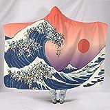 Butterfly Goods Original Wave Canapé avec capuche Blanc 150 x 200 cm