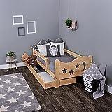 KAGU Chrisi, lit/maison/talo pour enfant, confortable, commode, lit en bois sûr, pour garçon, pour fille, pin/aubier, décoration de la chambre d'enfant, assemblage facile (Pine, 140 x 70 cm)