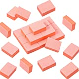 150 Pièces Mini Blocs de Ponçage pour Ongles Blocs Tampons à Ongles Polisseuse de Lime à Ongles Manucure Grit Double Face Outil de Tip d'Ongle pour Art Ongle DIY (Orange)