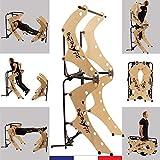 INFINYFIT 130 Bois- La Seule Chaise Romaine Pliable - Appareil de Musculation Complet - Mieux qu'une Cage de Musculation - Idéal pour la Musculation à la Maison