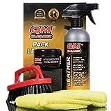 QM Cleaner Kit Leather   Kit de nettoyage et d'hydratation pour le cuir et le similicuir - Nettoyant et un hydratant pour l'entretien du cuir
