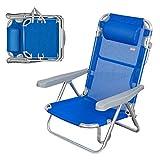 AKTIVE - Chaise Pliante, Multi-Position et en Aluminium, Mixte, 62608, Bleu Marine