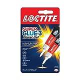 Loctite Super Glue-3 Power Gel, colle forte enrichie en caoutchouc, colle gel ultra-résistante, à séchage immédiat, colle transparente, lot de 2 tubes 3 g