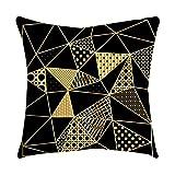 NEEKY Polyester or Rose Oreiller Coussin Decoration Canapé Taie d'oreiller Carrée décoration de la Maison Accessoires Coussins