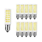 Ampoule LED 7W Economie d Energie, E14 Petite Base de Vis, Forme de Maïs, SMD 2835, Equivalent 65W Ampoules Incandescente, Blanc Chaud 3000K/650 Lumens,AC 220-240V, Non Dimmable, Lot de 10