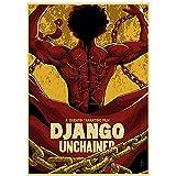 ZNNHEROQuentin Tarantino Film Django Unchained Affiche Vintage Et Impression Toile Peinture Mur Art pour Canapé Décor-40X60Cmx1 No Frame