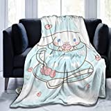 maichengxuan Couvertures et couvre-lits, couverture pelucheuse Cinn-amoroll ultra douce, chaude et légère pour lit de canapé 127 cm x 40