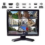 17 Pouces CCTV Moniteur, LCD HD Ecran de Video Surveillance, avec BNC/VGA/HDMI/AV Haut-Parleur Intégré USB Lecteur pour PC/DVD/Domicile/Magasin Caméra Système de Surveillance de la Sécurité(1280x1024)
