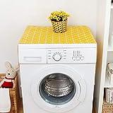banapo Housse de Protection Jaune pour réfrigérateur, Couvercle de Machine à Laver, Armoire, congélateur(55 * 130cm 51x21inch)