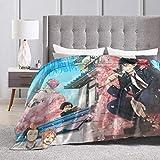 LUCKY Home Affiche de protagonistes d'exorciste Bleu couvertures de Jet en Molleton de Flanelle Sherpa Ultra Doux pour lit/canapé/canapé/Salon/Chambre