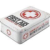 Nostalgic-Art Boîte en Fer Blanc Plate Style rétro pour kit de Premiers Secours Imprimé First Aid 23 x 16 x 7 cm