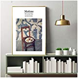 DOAQTE Pâtisserie sur la Chaise Henri Matisse Toile Peinture Photos Mur Art Imprime Affiches Impression sur Toile pour la décoration de la Chambre 20X28 Pouces sans Cadre 1 pièces