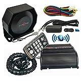 Evershine Signal Sirène de police 150W avec microphone haut-parleur Fonction Bluetooth 20 + tons adaptés aux véhicules de police de la circulation et de lutte contre les incendies