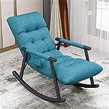Chaises à Bascule Canapé paresseux chaise à bascule adulte sieste maison simple balcon salon salon dossier loisure chaise facile inclinable pour le Jardin ( Couleur : Bleu , Size : 96x59x65cm )