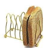 Lot de 2 grilles à pain de style nordique 6 trous de tranche, grille à pain multifonctionnelle en acier inoxydable, 14 × 6,5 × 12 cm, ustensiles de cuisine en acier inoxydable, égouttoir de bureau, do